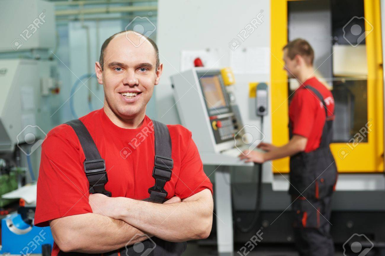 Portrait of experienced industrial worker Stock Photo - 17641313