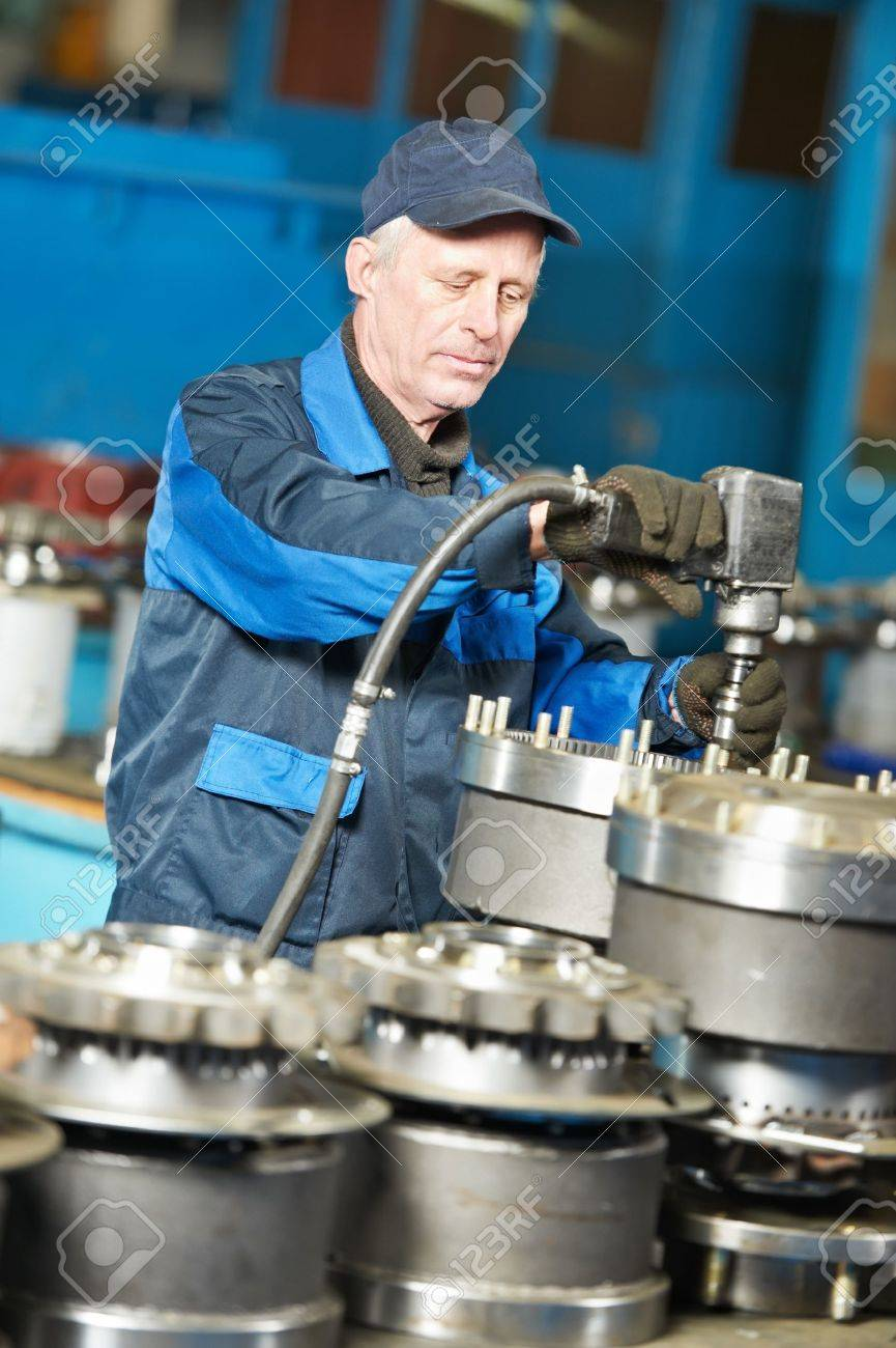 experienced industrial assembler worker Stock Photo - 18196838