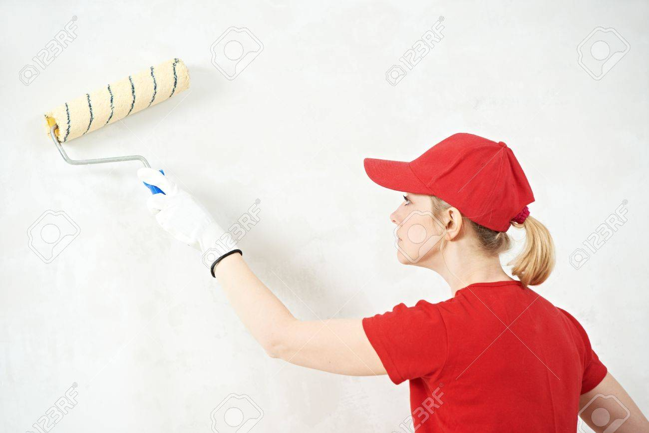 woman painter at indoor work Stock Photo - 18872334