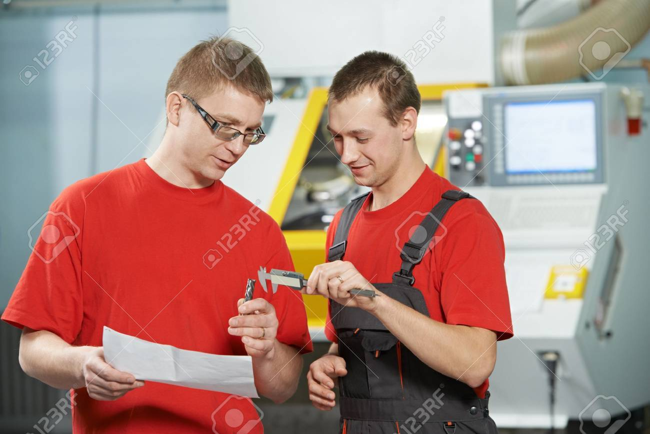industrial workers at tool workshop Stock Photo - 18877134