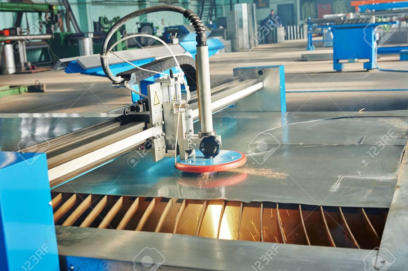 Tecnología Láser O Procesan La Fabricación De Corte Por Plasma ...