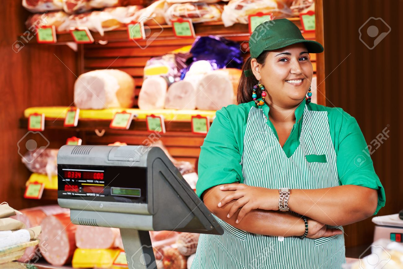 portrait of s person worker or assistant seller in supermarket portrait of s person worker or assistant seller in supermarket store shop stock photo 38347657