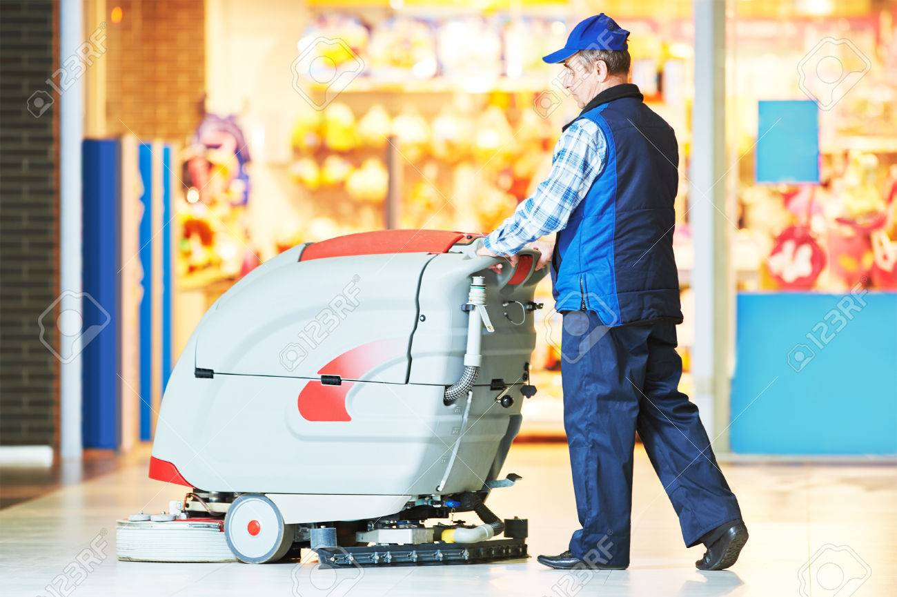 Nettoyage De La Machine À Laver services de soins et de nettoyage du sol avec machine à laver la boutique  de supermarché magasin