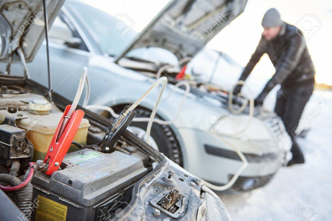 Automobile starter battery problem in winter cold weather conditions - 68876663
