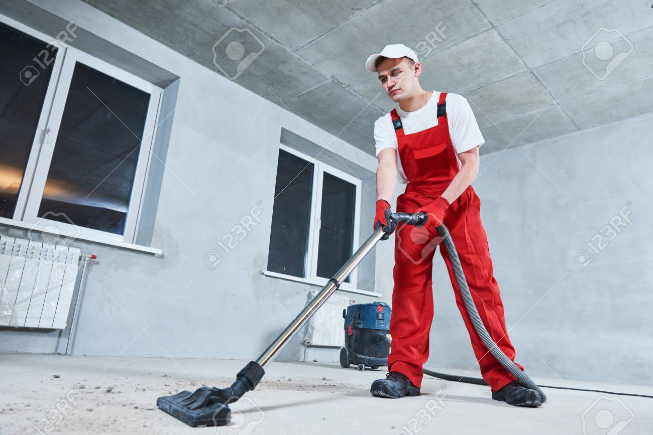 cleaning service. dust removal with vacuum cleaner - 92129024