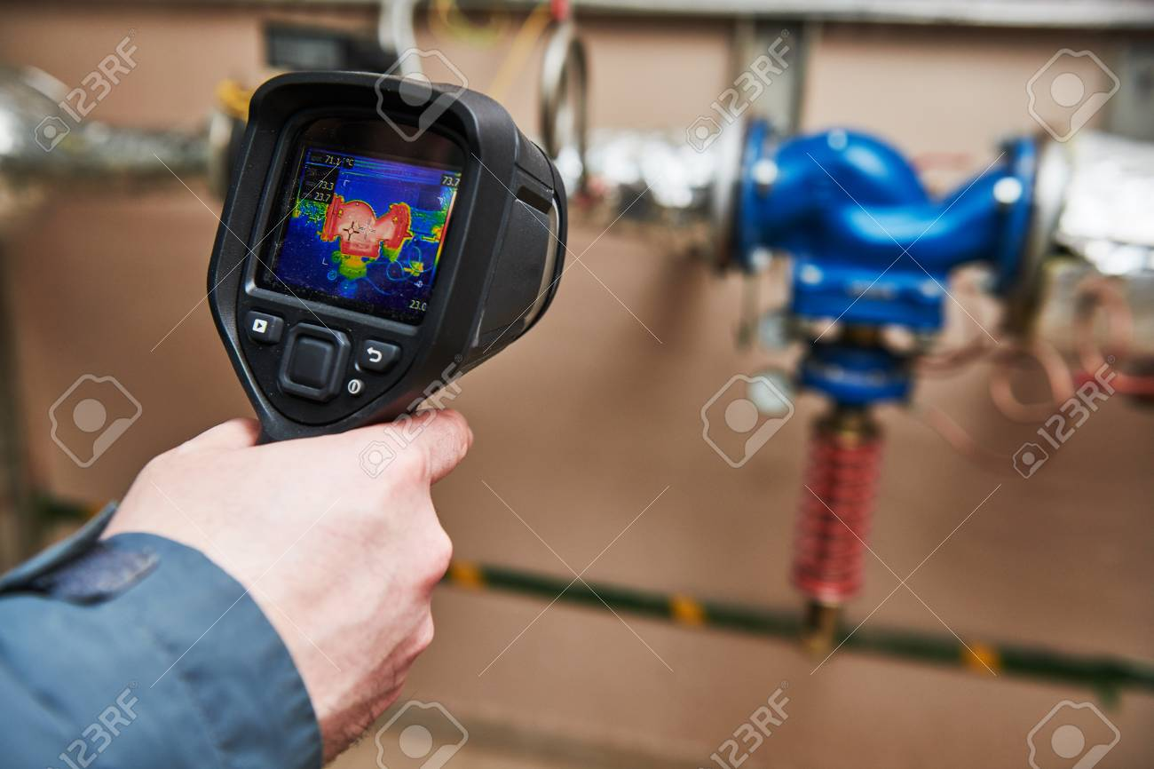 thermal imaging inspection of heating equipment - 118735534