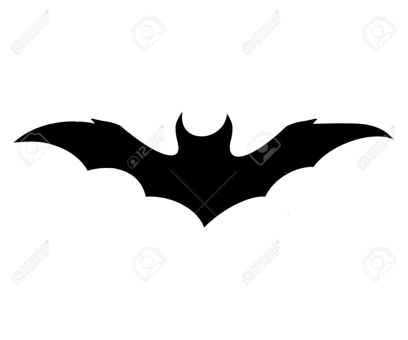 black bat icon on white background, symbol of halloween - 108204675