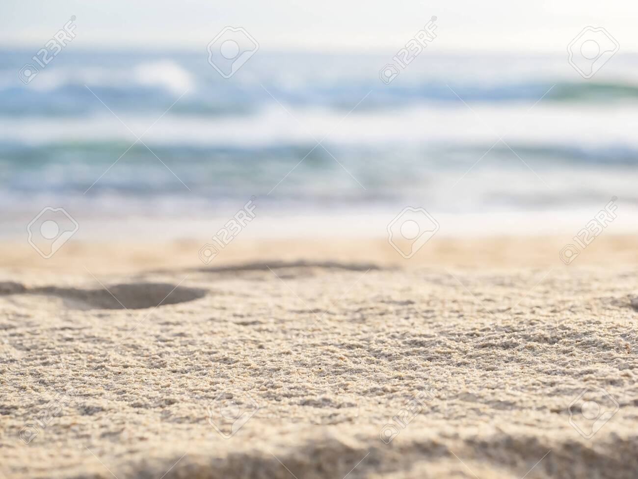 close up sand with wave of sea beach - 149187049