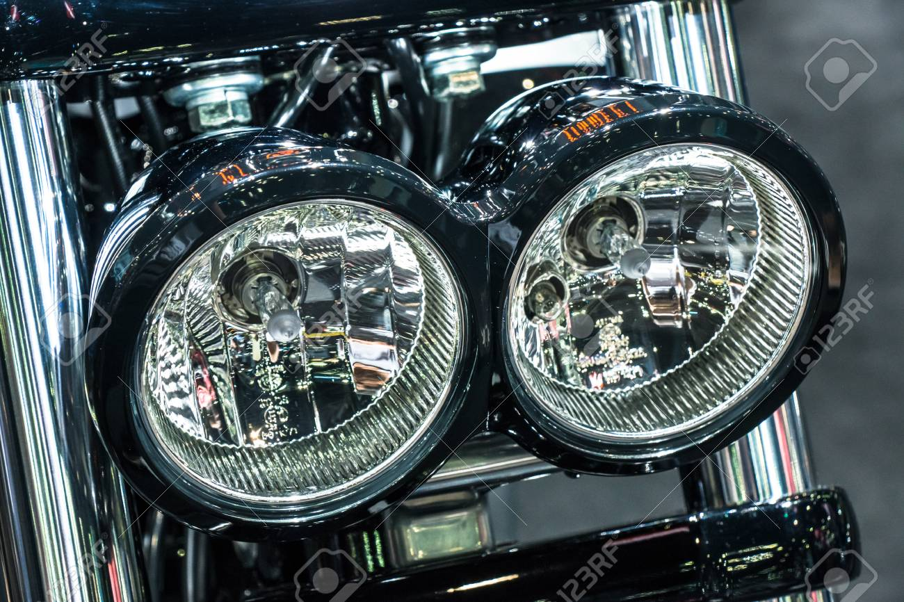 Vintage Classic Motorcycle Headlight Stock Photo Picture And