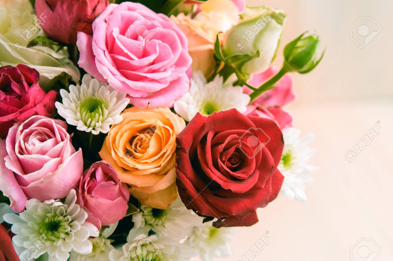 Close up vase of roses bouquet on white background set of beautiful close up vase of roses bouquet on white background set of beautiful flower stock photo izmirmasajfo