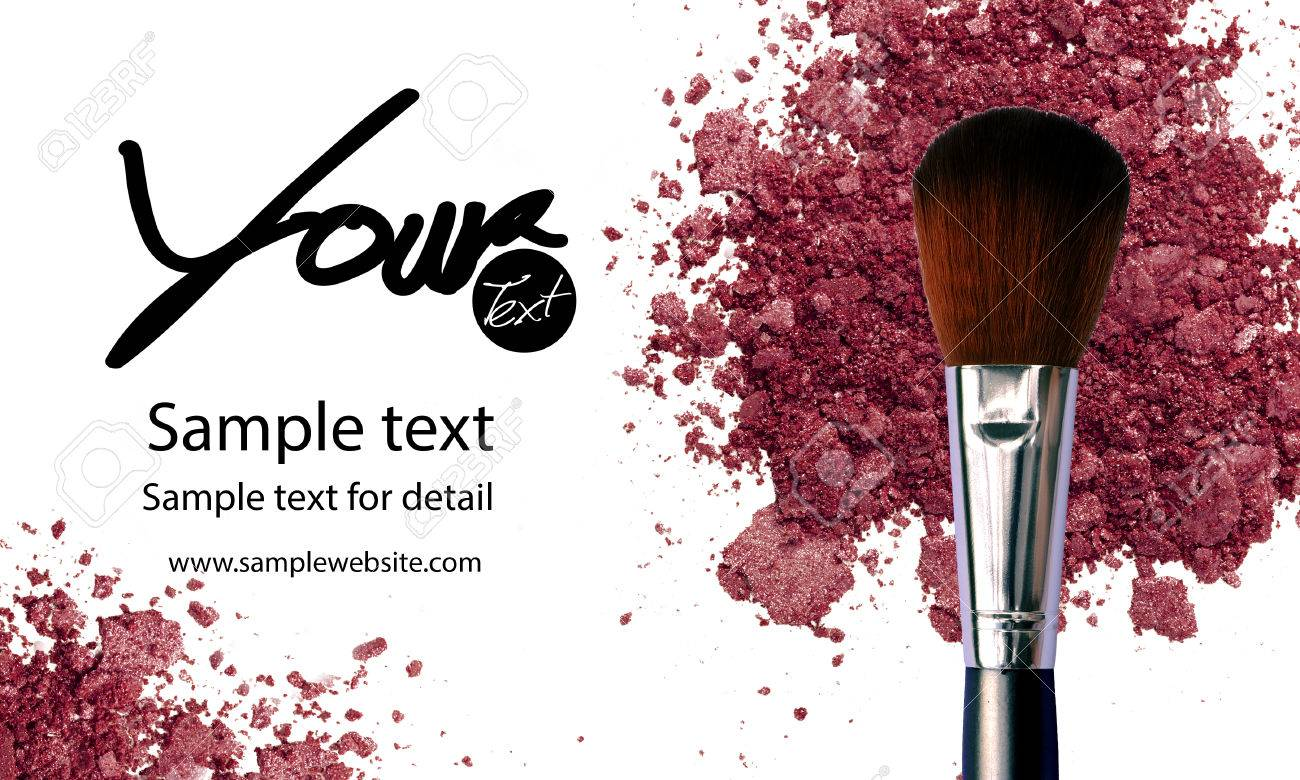 Makeup Artist Business Card Template With Makeup Items Background ...