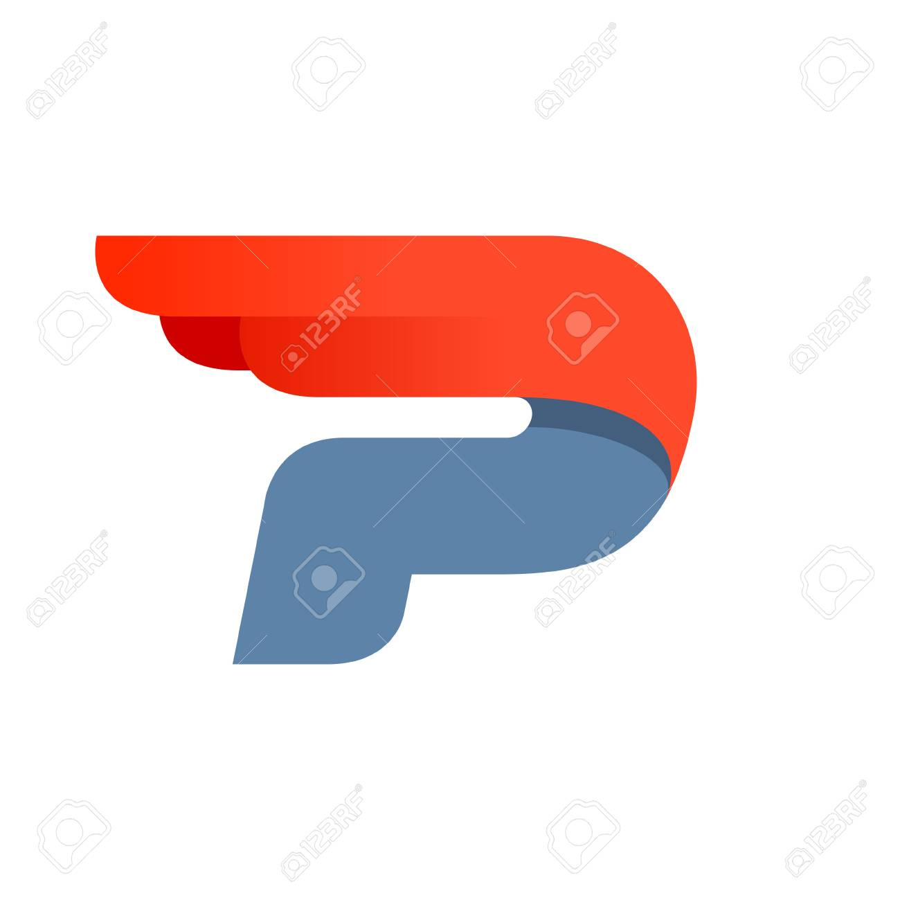 P letter logo design template. Fast speed vector unusual letter. Vector design template elements for your application or company. - 94760152