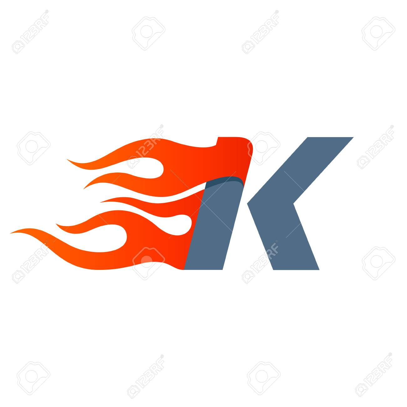 letter k icon design template fast fire speed vector unusual letter vector design template