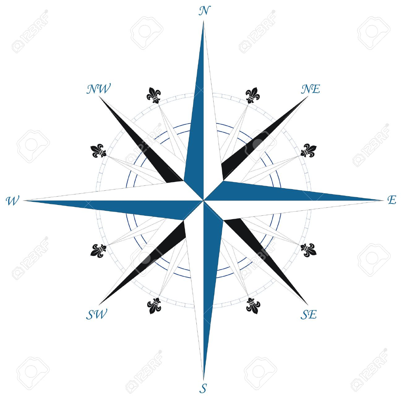 Wind rose compass Stock Vector - 5387720