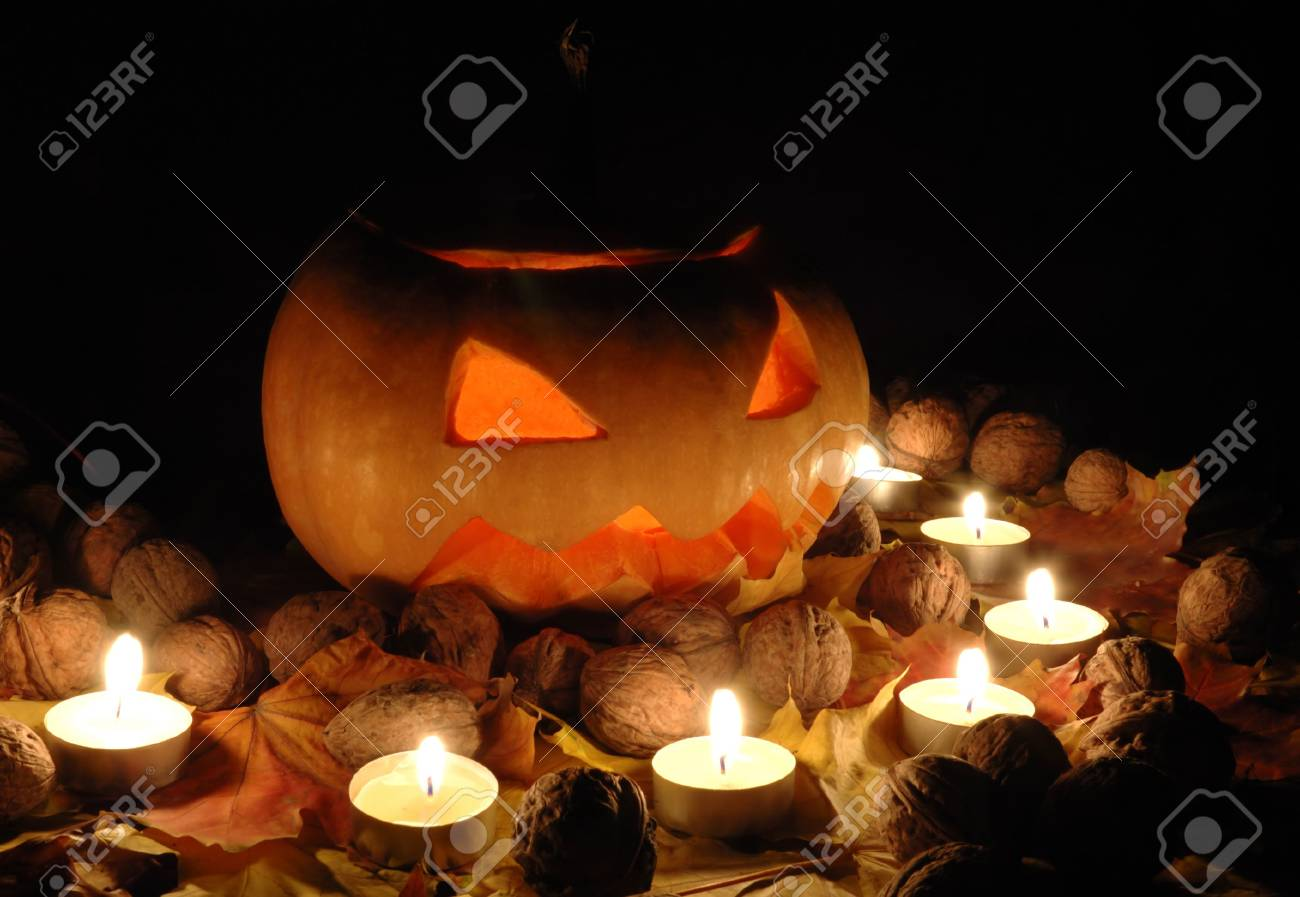 Halloween pumpkin still life Stock Photo - 5798893