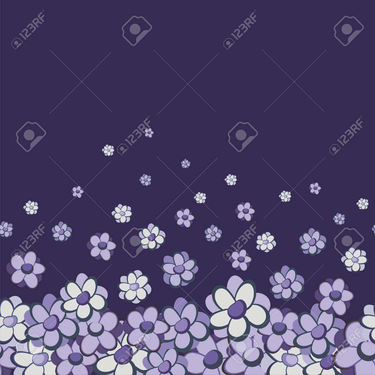 Vintage floral vector seamless border Stock Vector - 7363919