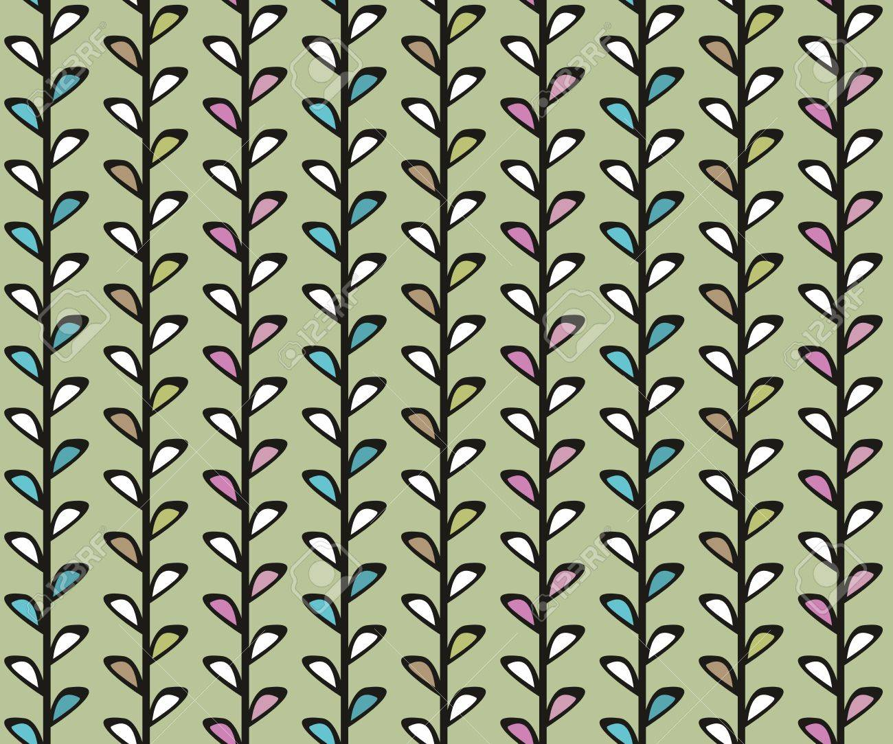 Vintage floral vector seamless texture with lianas Stock Vector - 14897892