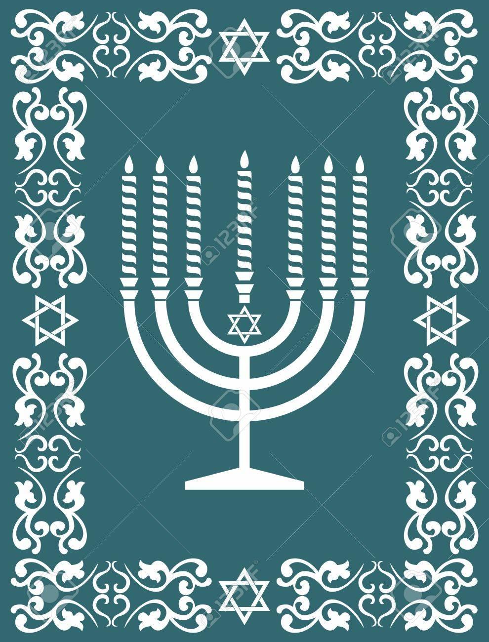 Jewish menorah design Stock Vector - 15829361