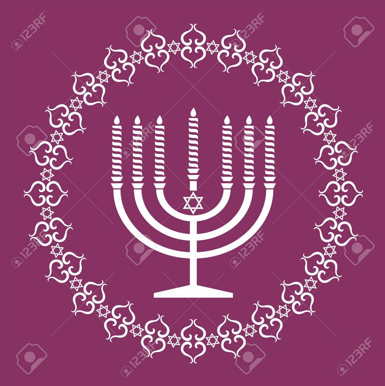 Jewish menorah holiday background Stock Vector - 15844977