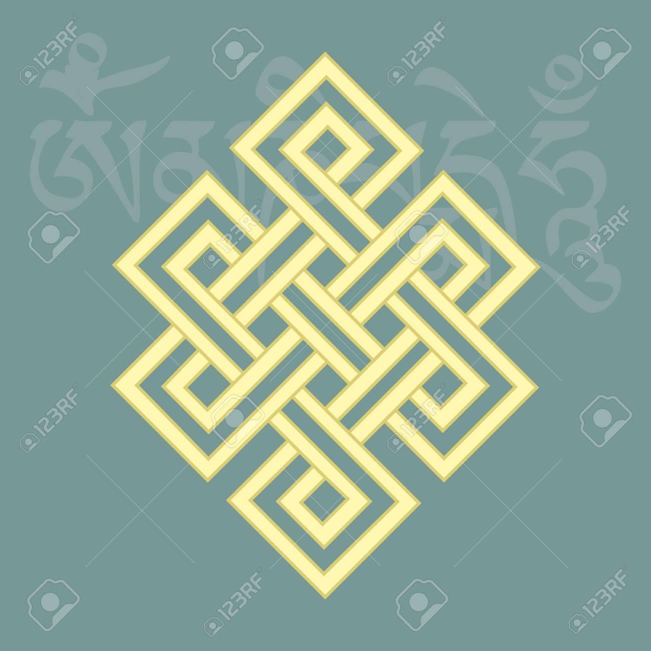 Endless Knotone Of Eight Auspicious Buddhist Religious Symbols