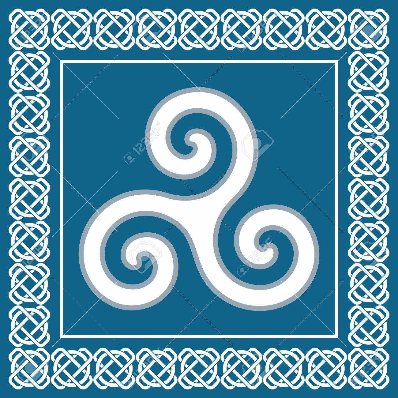 Ancient symbol triskelion or triskele traditional element typical ancient symbol triskelion or triskele traditional element typical for celtic scandinavian ethnic design vector buycottarizona Images