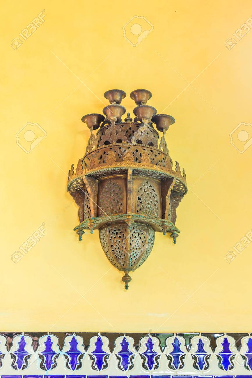 Traditional Arabic Lamp Used For Ornamental Buildings In The ... for Traditional Arabic Lamp  565ane