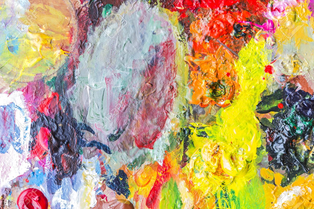 Peinture Acrylique Abstraite Palette De Couleurs Couleur Fond