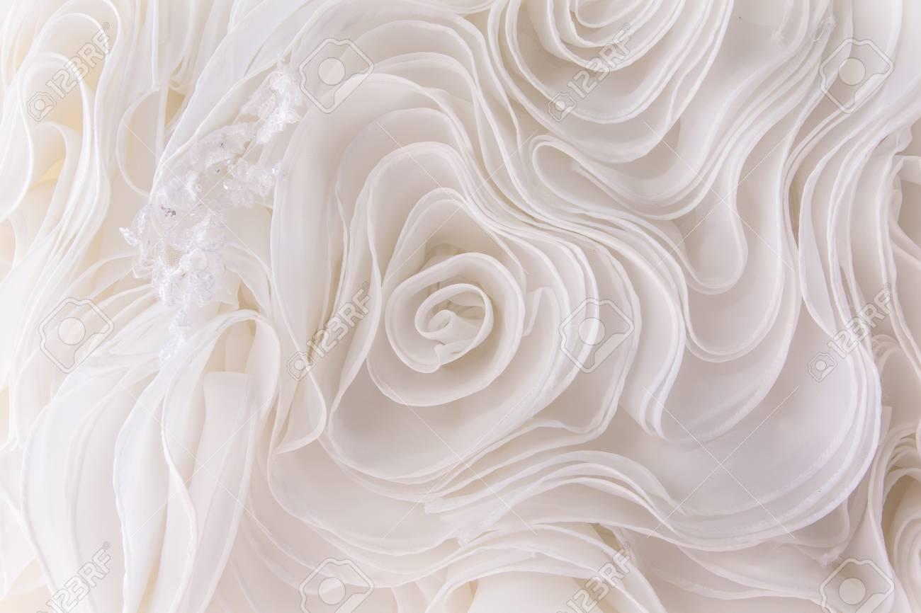 Wedding Dress Fabric.Stock Illustration