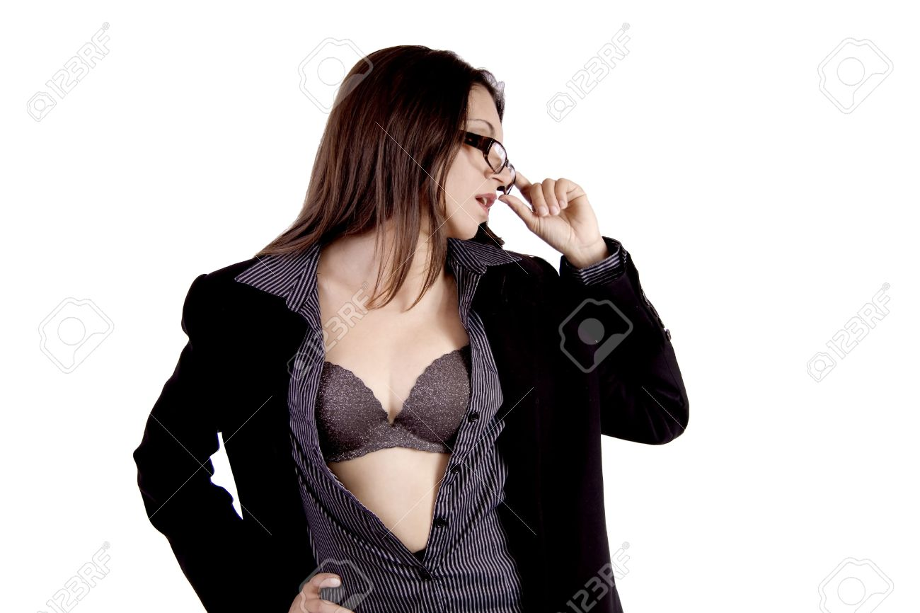 Very hot business woman with glasses Stock Photo - 4684954