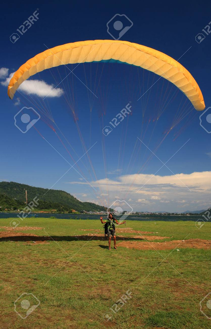 Paragliding over Pokhara, Nepal - 25629266