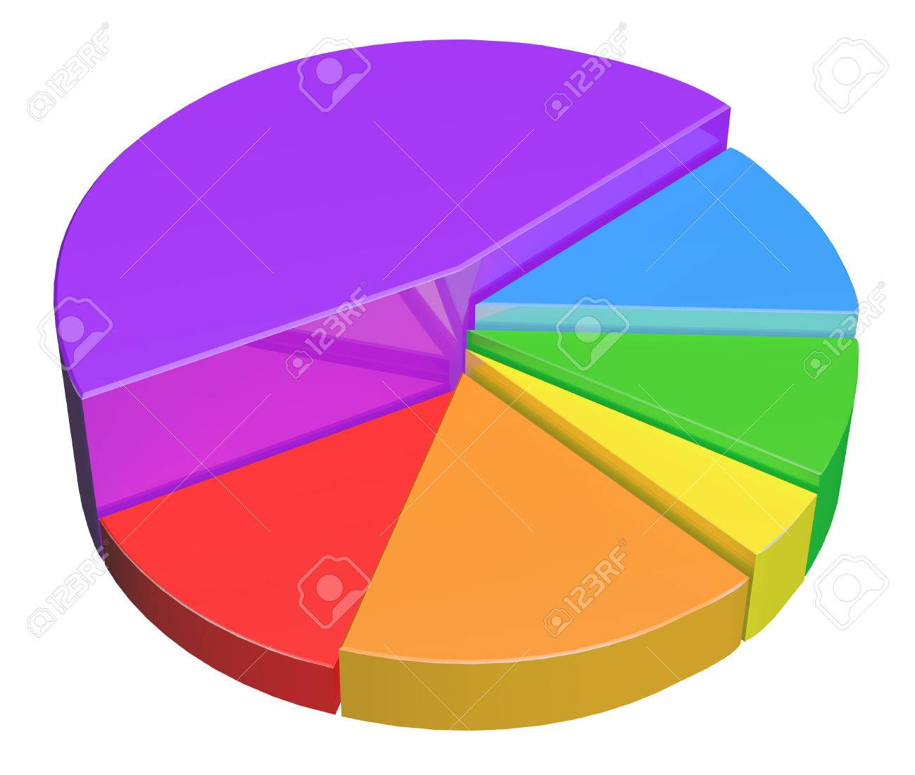 Colorful 3d Pie Chart Icon Used In Business Reports And Infographics