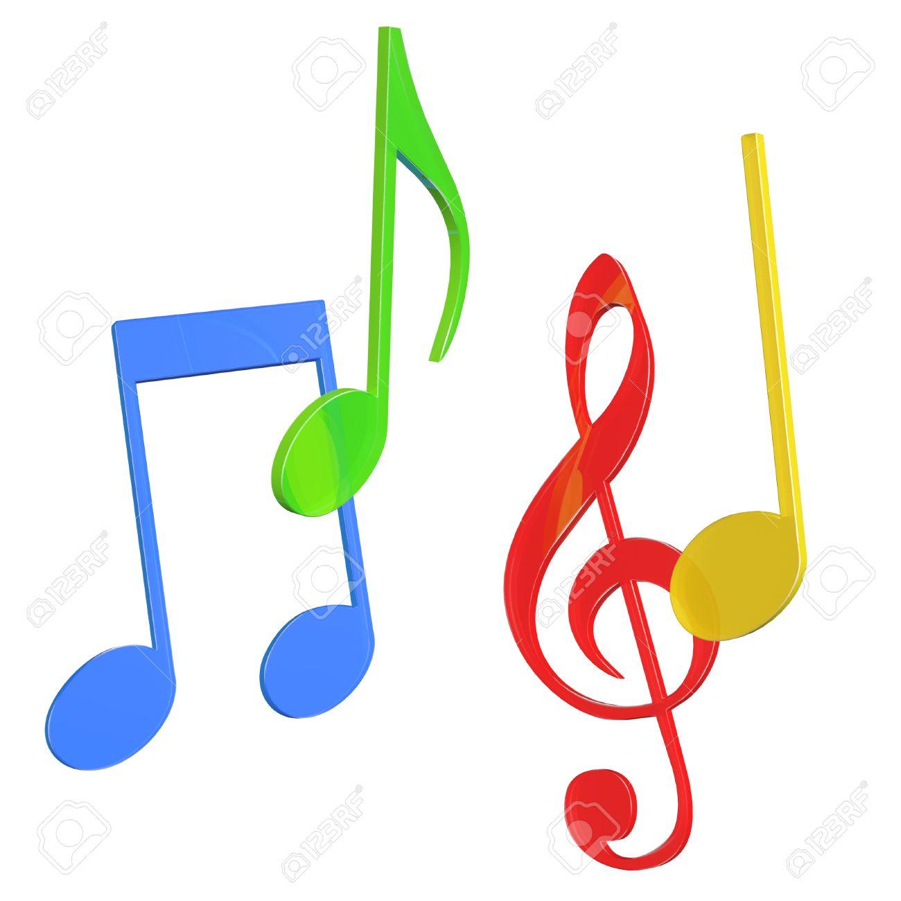 Resultado de imagen para notas musicales 3d