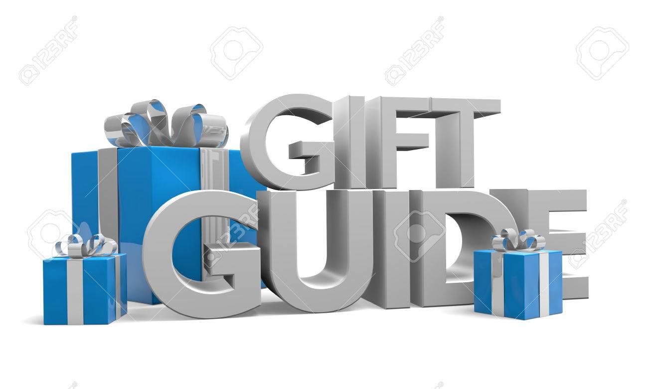 Weihnachtsgeschenke Guide.Stock Photo
