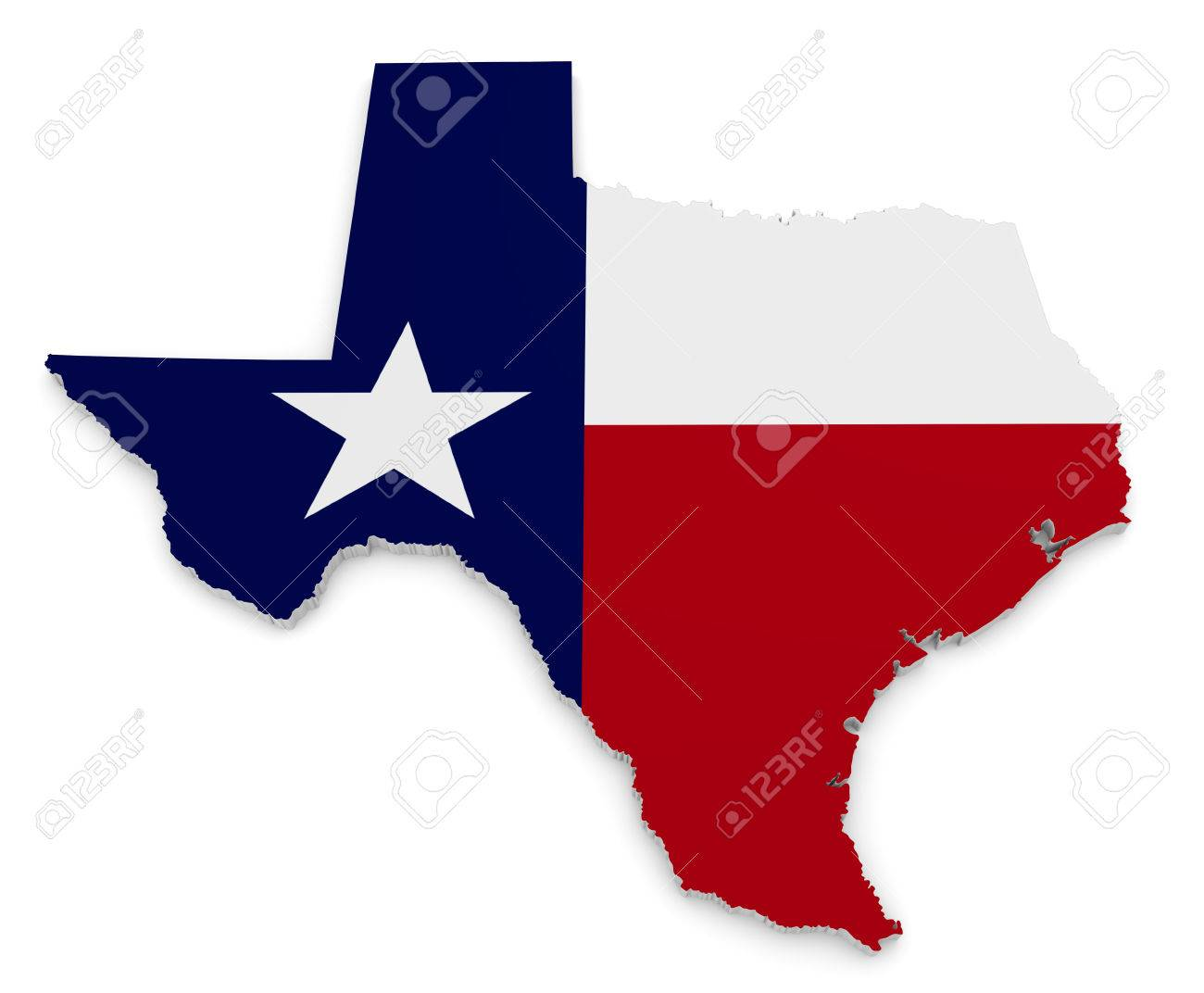 Star Of Texas >> Geographic Border Map And Flag Of Texas The Lone Star State
