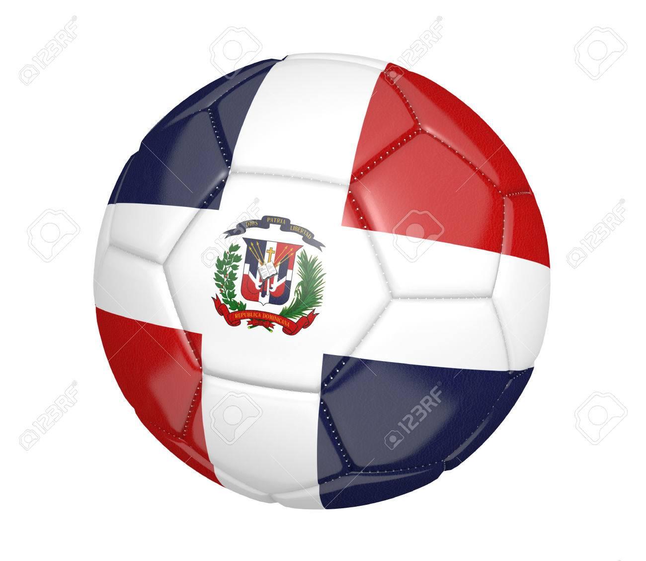 Fußball, Auch Genannt Einen Fußball, Mit Den Farben Der Nationalen ...
