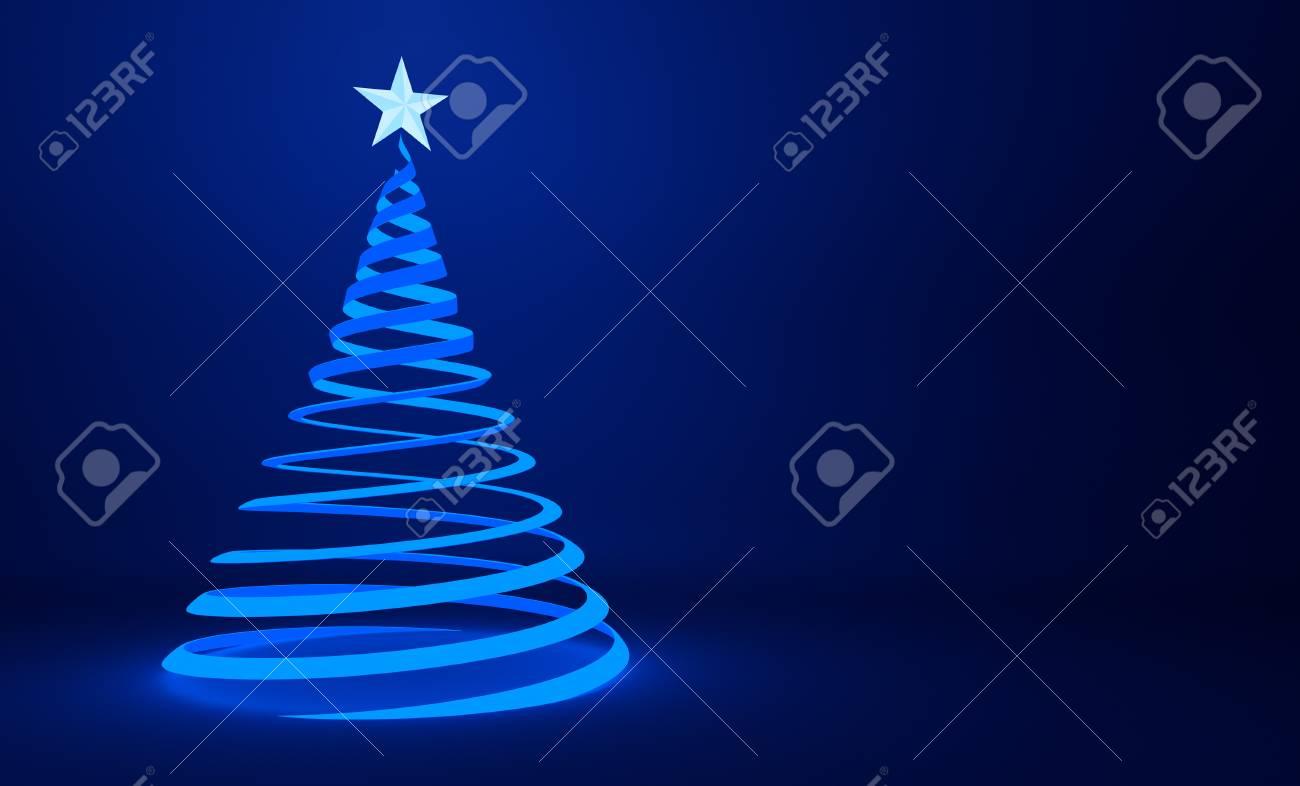 Albero Di Natale Stilizzato.Immagini Stock Disegno Stilizzato Della Priorita Bassa Dell Albero Di Natale Del Nastro Blu Image 49018483