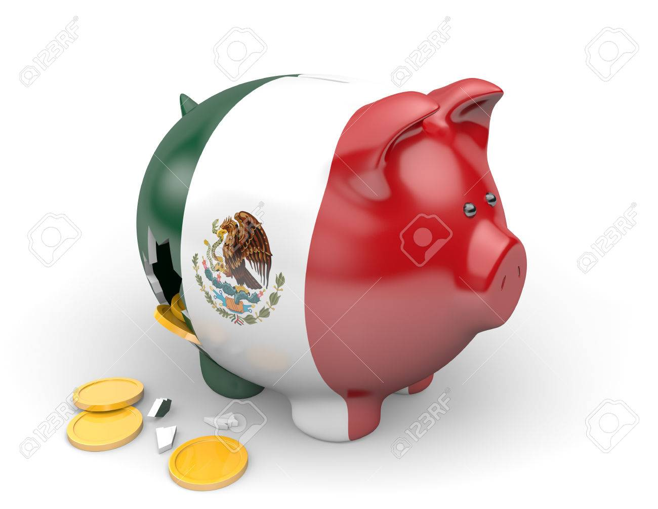 Mexico economy and finance concept for poverty and national debt - 50990772