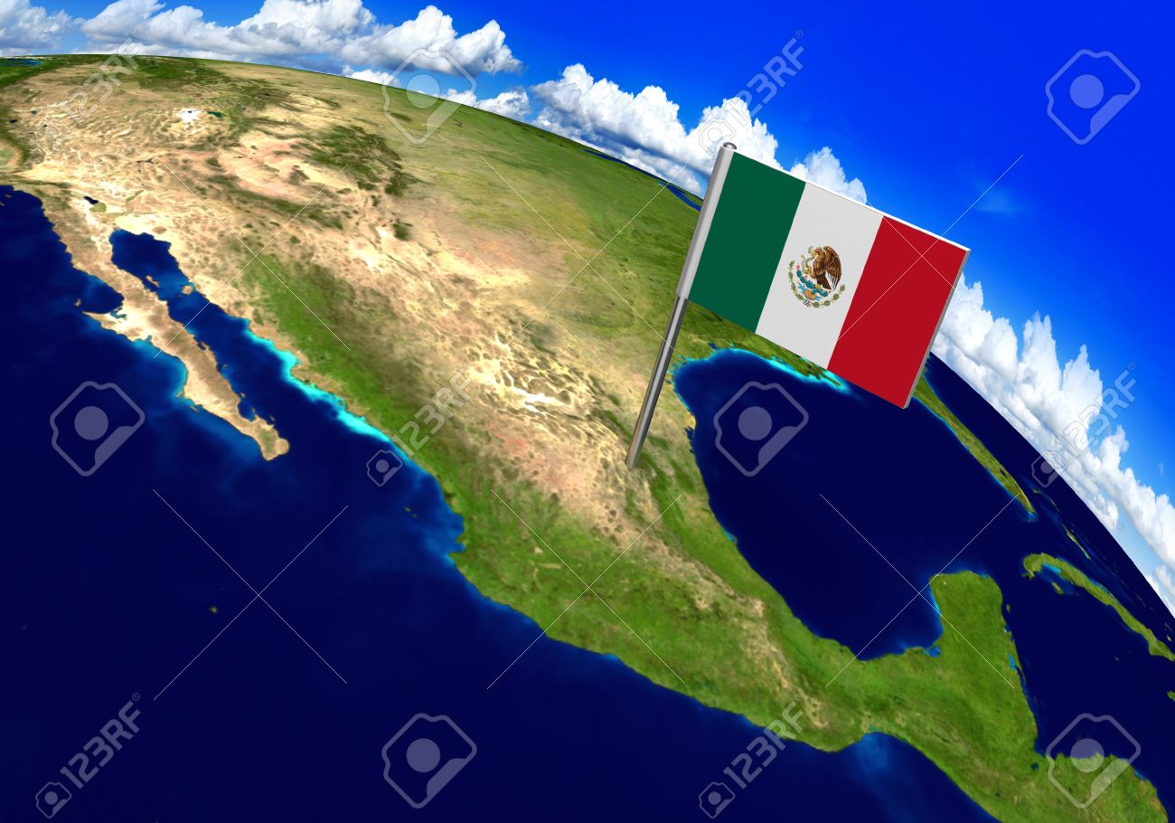 Flag marker over country of mexico on world map 3d rendering flag marker over country of mexico on world map 3d rendering parts of this image gumiabroncs Images