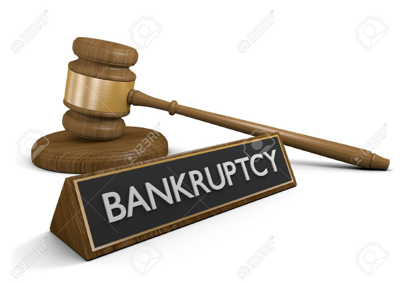 Laws dealing with corporate bankruptcy and financial disasters, 3D rendering - 60225517