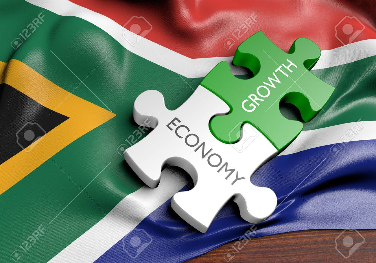South Africa economy and financial market growth concept, 3D rendering - 64920916
