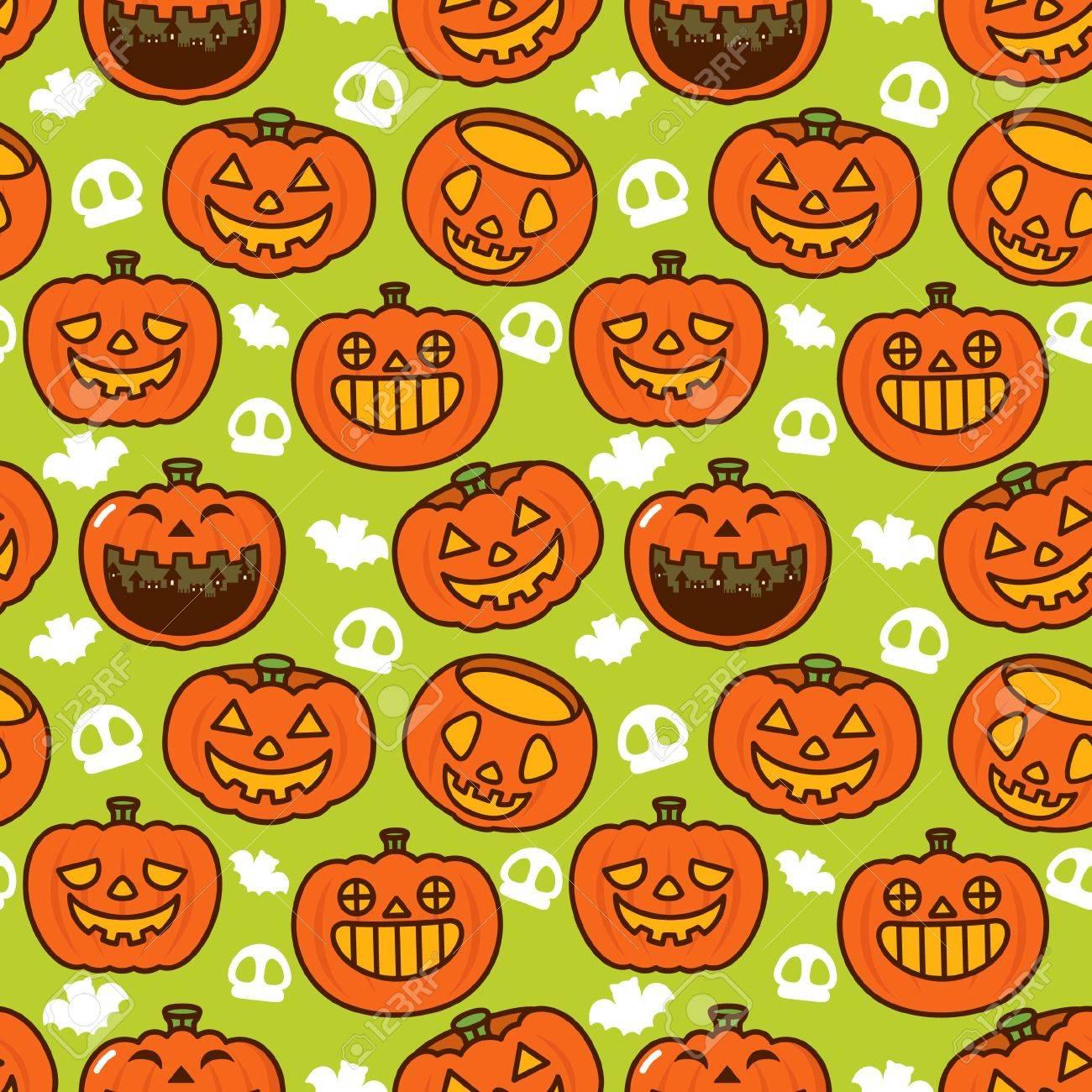 Halloween Pumpkin Pattern Stock Vector - 8084917