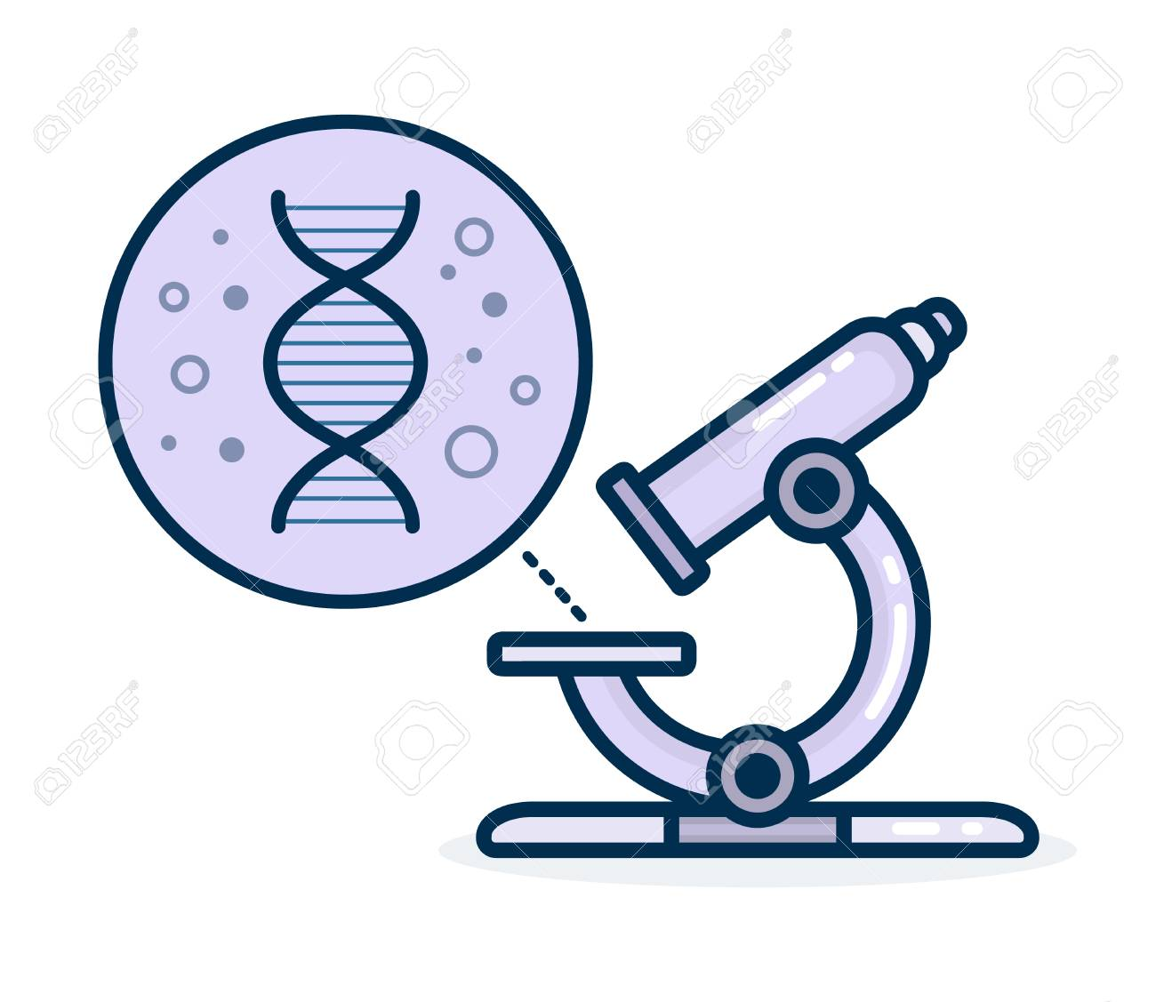 microscope increases dnk vector flat modern line style cartoon royalty free cliparts vectors and stock illustration image 89471027 microscope increases dnk vector flat modern line style cartoon