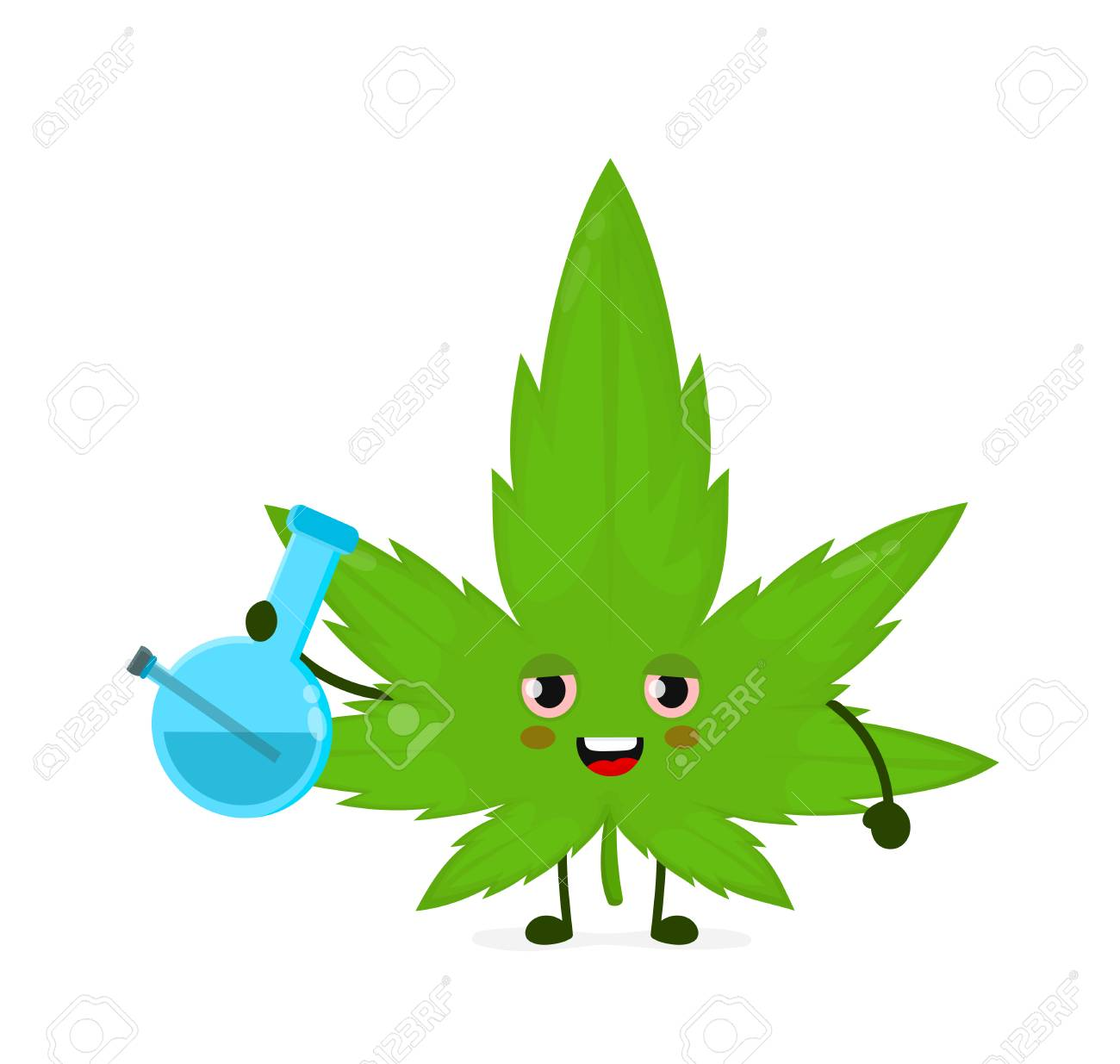 Cute Funny Smiling Happy Marijuana Weed Leaf Smoke With Bong Royalty Free Cliparts Vectors And Stock Illustration Image 117403050