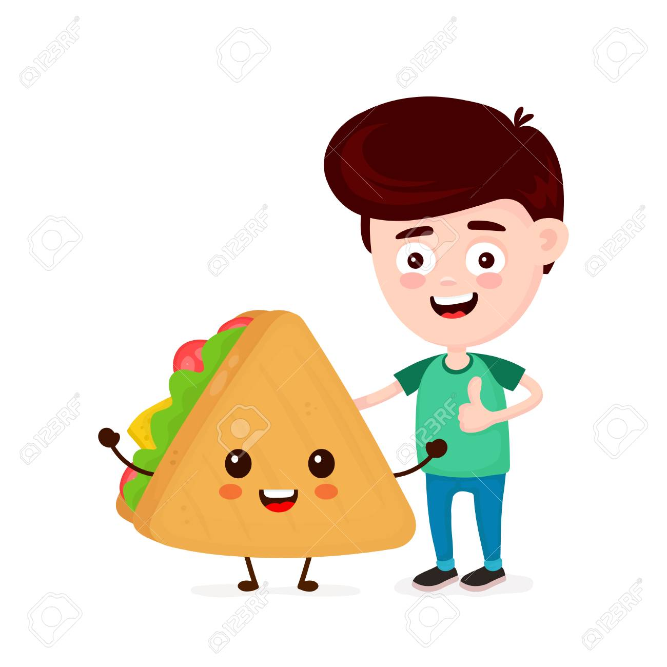 cute happy funny smiling young man and sandwich boy show thumb royalty free cliparts vectors and stock illustration image 127103351 cute happy funny smiling young man and sandwich boy show thumb