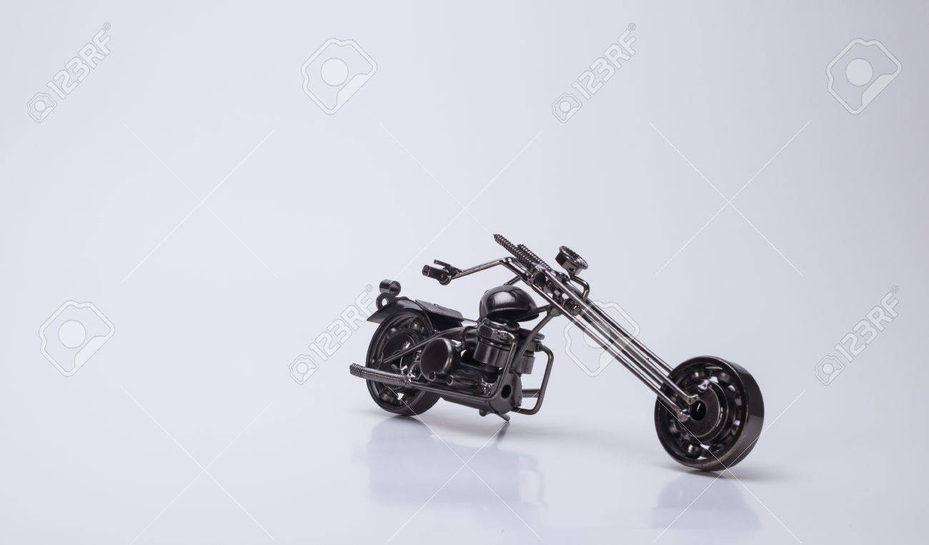 Make nice toy motorcycle models, beautiful handicraft products Stock Photo - 19460273