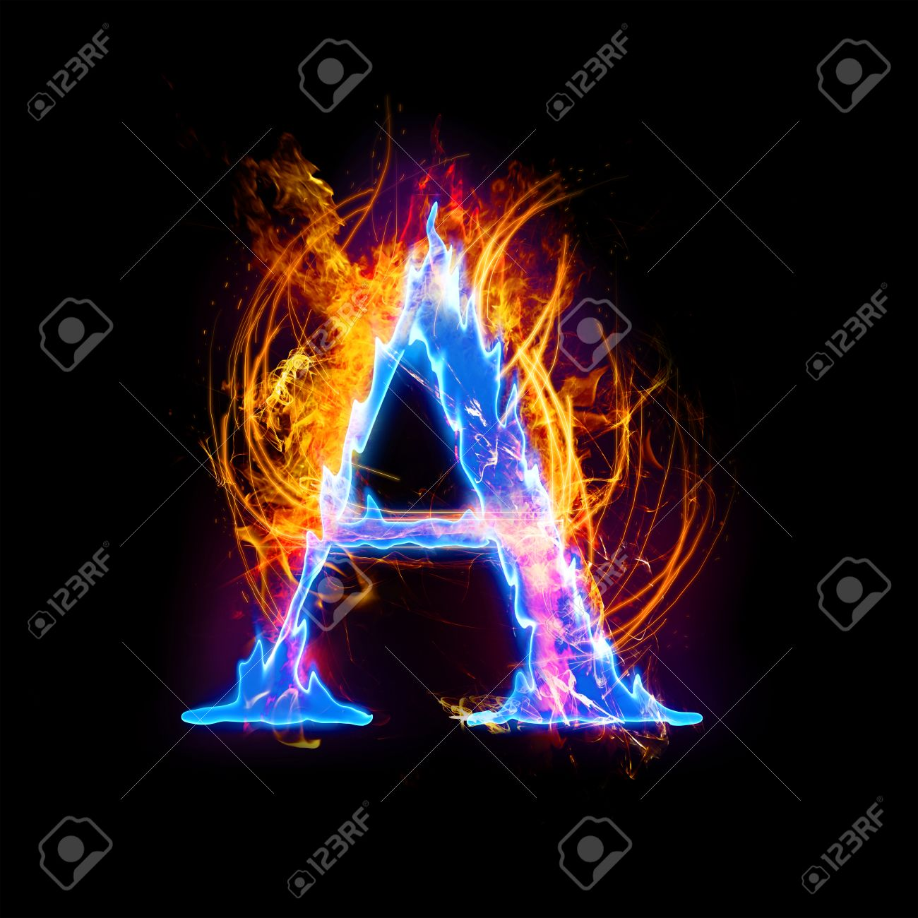 fire and ice text capital letter alphabet a stock photo picture and