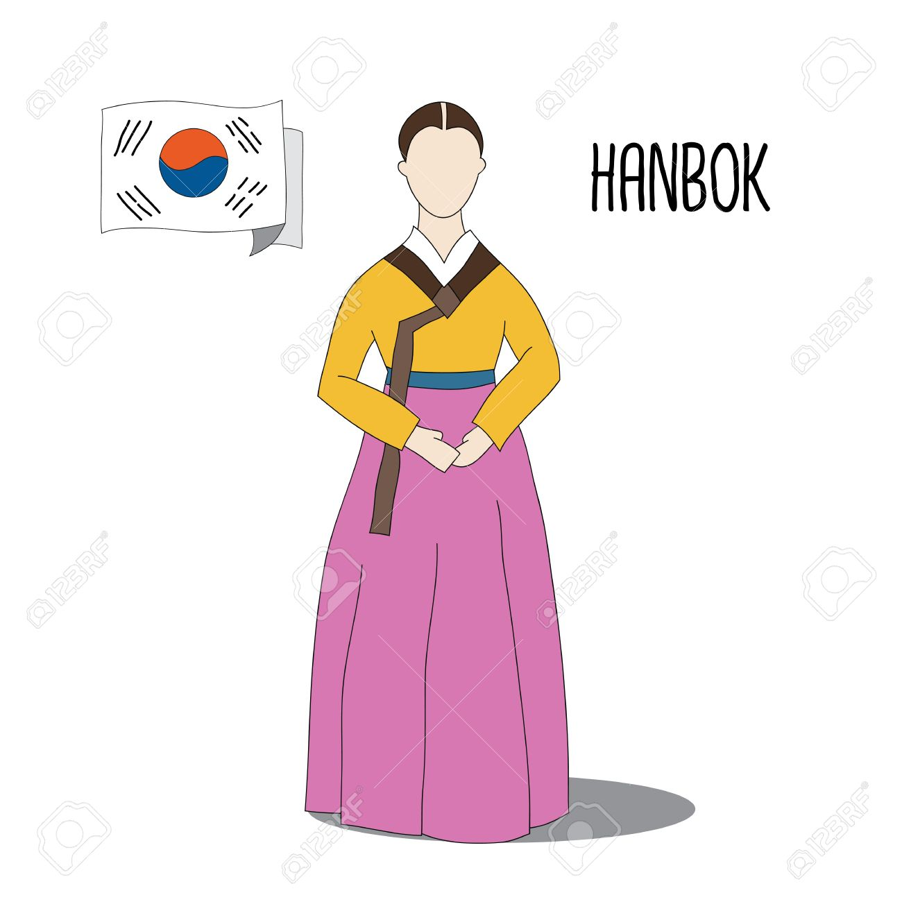 Traditional Korean Dress Costume Hanbok Is The Traditional