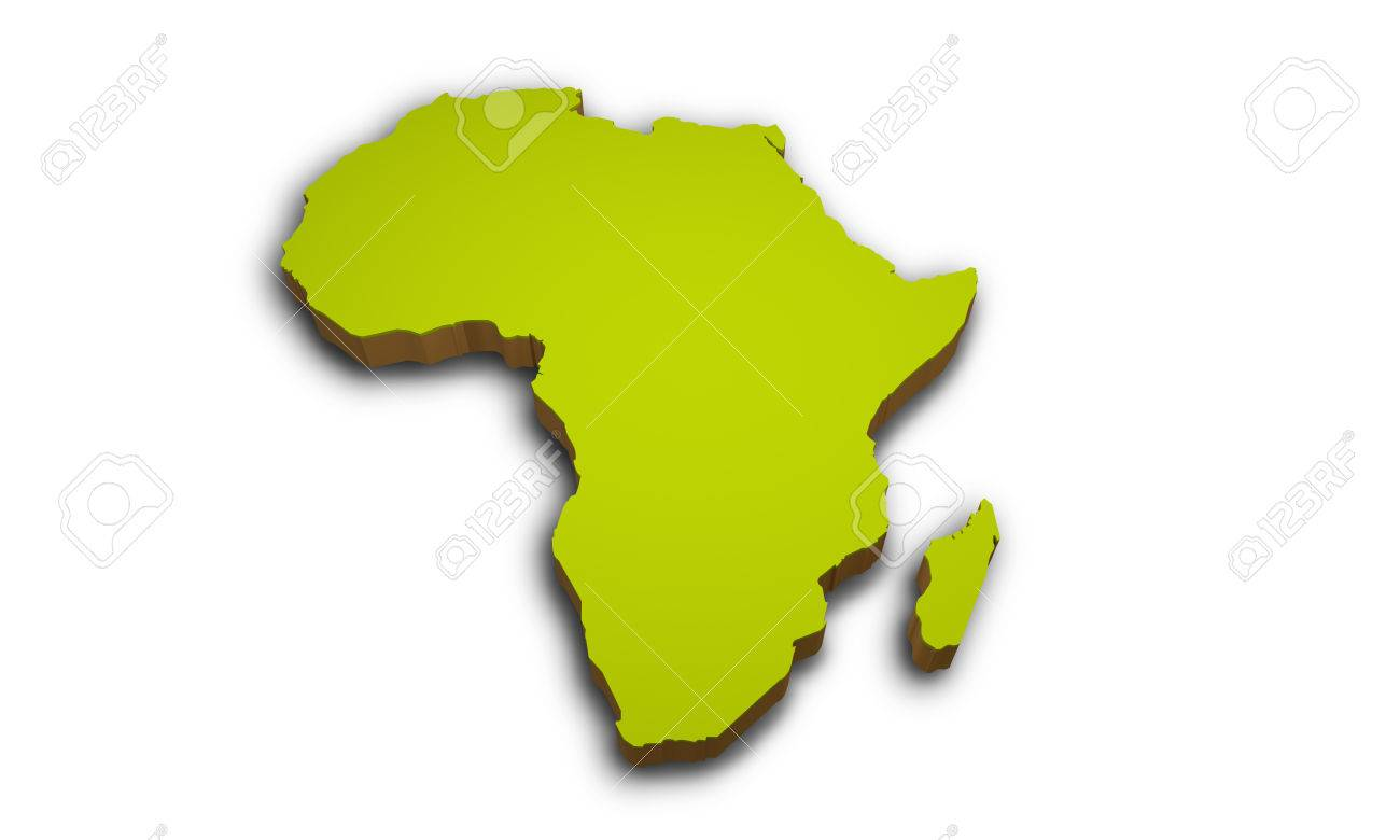 Map Of Africa 3d.3d Map Of Africa Isolated On White Background Stock Photo Picture