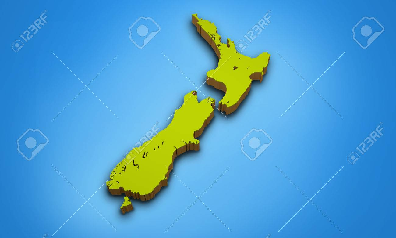 3d Map Of New Zealand.3d Map Of New Zealand