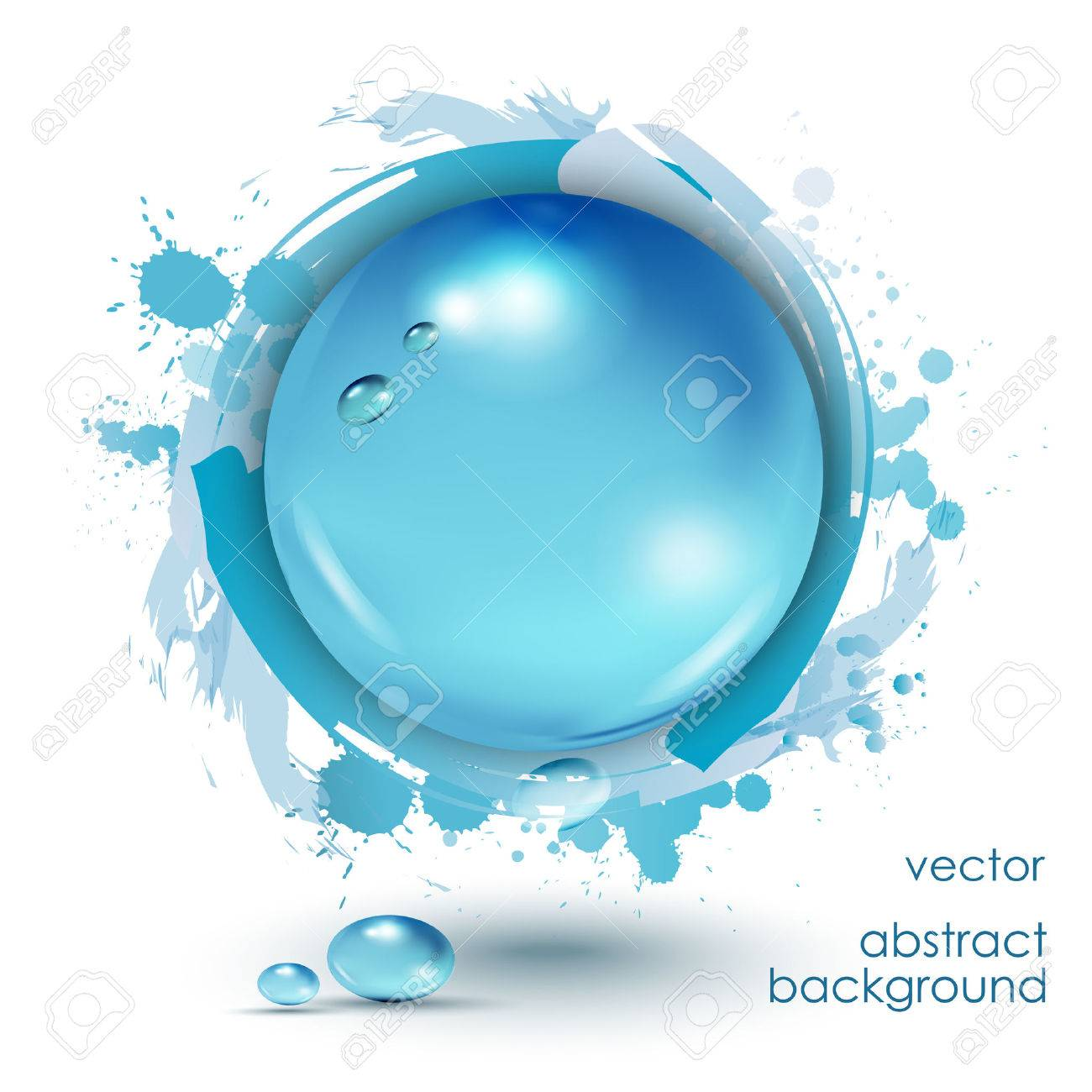 Water drops blue, vector background. - 27547219